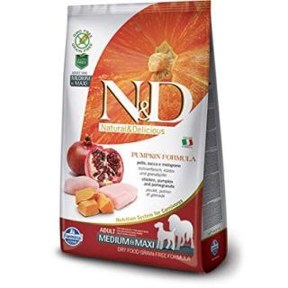 N&D Grain Free Pumpkin Adult Medium / Large Chicken & Pomegranate 12kg
