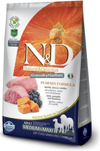 N&D Grain Free Pumpkin Adult Medium / Large Lamb & Blueberry 12kg