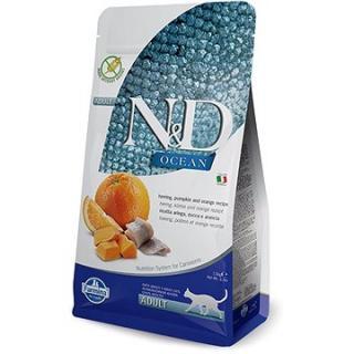 N&D OCEAN grain free cat adult herring, pumpkin & orange 1,5kg