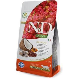 N&D QUINOA grain free cat skin & coat herring & coconut 1,5 kg