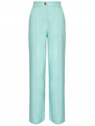 NA-KD Kalhoty z materiálu Wide 1018-006843-0618-581 Zelená Relaxed Fit dámské 34