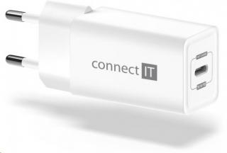Nabíječka connect it 1xusb typc, pd fast charge, 18w, bílá