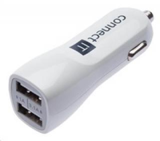 Nabíječka univerzální do auta CONNECT IT USB PREMIUM , bílá