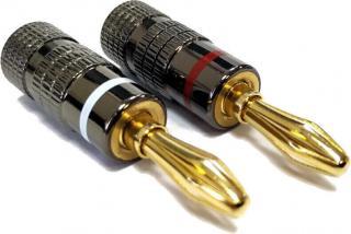 Nakamichi Banana Plugs N0534 2 Hi-Fi Konektor, redukce