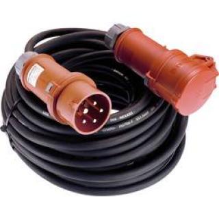 Napájecí prodlužovací kabel as - Schwabe 61015, IP44, černá, 25.00 m