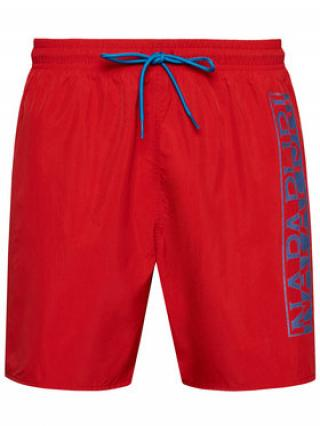 Napapijri Plavecké šortky Victor 1 NP0A4F9S Červená Regular Fit pánské M