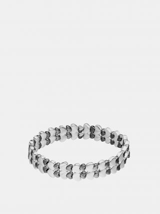 Náramek ve stříbrné a černé barvě Tamaris dámské stříbrná