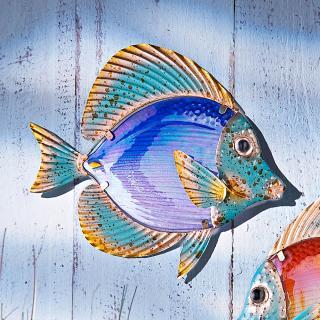 Nástěnná dekorace ryba, modrá