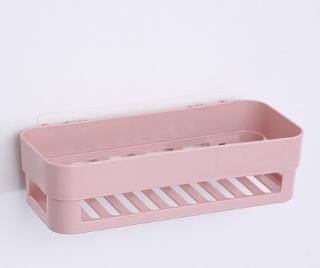 Nástěnná police do koupelny - 4 barvy Barva: růžová