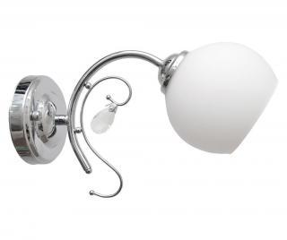 Nástěnné svítidlo Carlton Šedá & Stříbrná