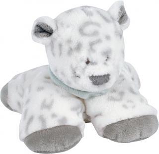 NATTOU Hračka plyšová chrastící leopard Lea 18 cm bílá