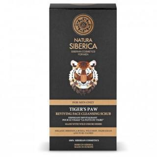 Natura Siberica Čisticí peeling pro oživení pleti Men Tiger`s Paw  150 ml pánské