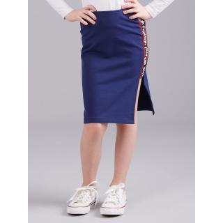 Navy blue girly skirt with inscriptions on the side dámské Neurčeno 116