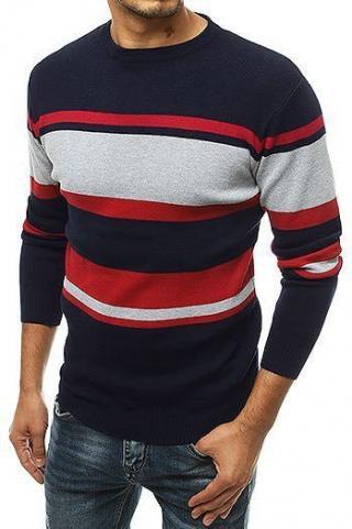 Navy blue mens pullover sweater WX1489 pánské Neurčeno M