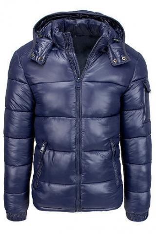 Navy blue mens quilted winter jacket TX3536 pánské Neurčeno S