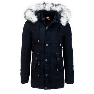 Navy blue mens winter parka jacket TX3538 pánské Neurčeno XL