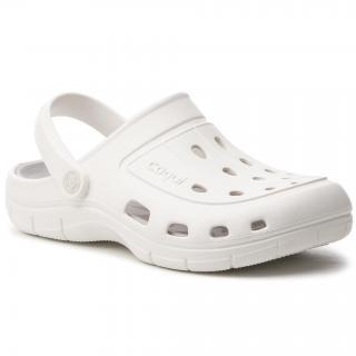 Nazouváky COQUI - Jumper 6351-100-3246 White/Khaki Grey pánské Bílá 45