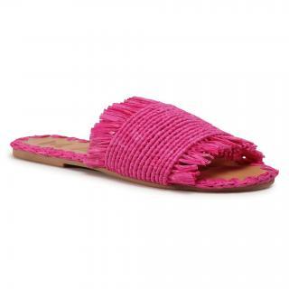 Nazouváky MANEBI - Leather Sandals S 1.7 Y0 Fucsia Fringed dámské Růžová 36