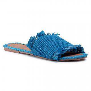 Nazouváky MANEBI - Leather Sandals S 1.9 Y0 Electric Blue Fringed dámské Modrá 35