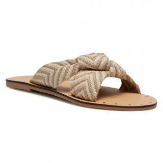 Nazouváky MANEBI - Leather Sandals S 3.0 Y0 Beige Knot dámské Béžová 35