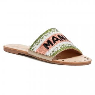 Nazouváky MANEBI - Leather Sandals S 3.8 Y0 Rose Green dámské Barevná 35