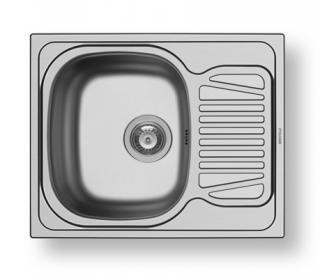 Nerezový dřez vestavný SPARTA 1B 1D, satin šedá