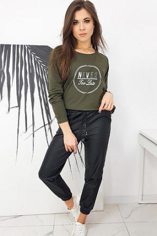 NEVER khaki womens oversize sweatshirt BY0635 dámské Neurčeno One size