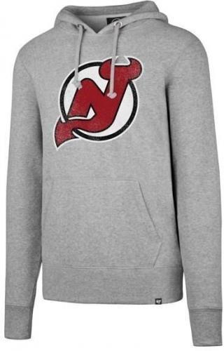 New Jersey Devils Headline Pullover Hood NHL Slate Grey L L