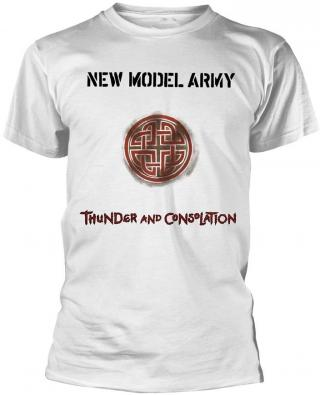 New Model Army Thunder And Consolation White T-Shirt XL pánské XL
