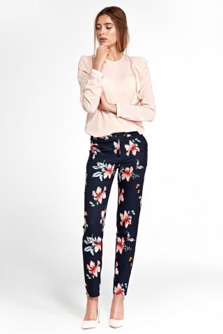 Nife Womans Pants Sd33 dámské Flowers-Navy Blue 38