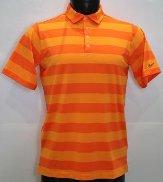 Nike Bold Stripe Chlapčenské Golfové Polo Orange/Navy XL pánské XL
