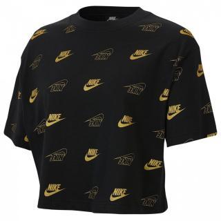 Nike Shine Crop T Shirt Ladies dámské Black   Other XL
