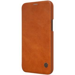 Nillkin Qin flipové pouzdro Apple iPhone 12 Pro / 12 Max brown