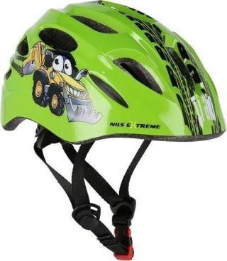 Nils Extreme MTW01 Helmet with Flasher Green XS/44-48