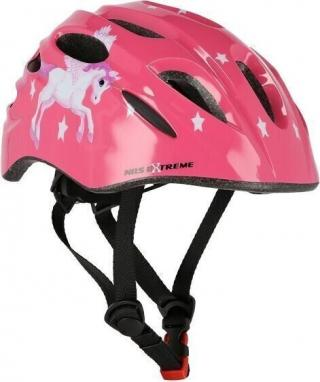 Nils Extreme MTW01 Helmet with Flasher Pink S/48-52