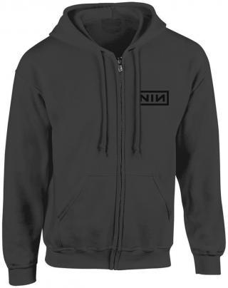 Nine Inch Nails Classic Black Logo Hooded Sweatshirt Zip M pánské Grey M
