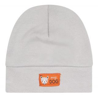 Nini chlapecká čepice z organické bavlny ABN-2327 38 šedá 38
