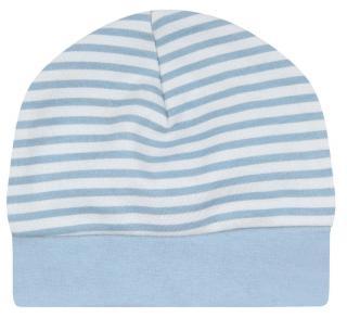 Nini chlapecká čepice z organické bavlny ABN-2384 44 modrá 44