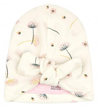 Nini dívčí čepice z organické bavlny ABN-2290 38 smetanová 38