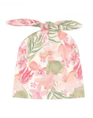 Nini dívčí čepice z organické bavlny ABN-2446 38 růžová 38