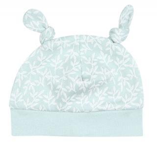 Nini dívčí čepice z organické bavlny ABN-2499 34 světle zelená 34