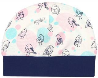 Nini dívčí čepice z organické bavlny ABN-2596 smetanová 44 44