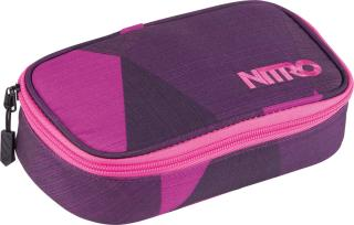 Nitro Pencil case XL Fragments purple fialová