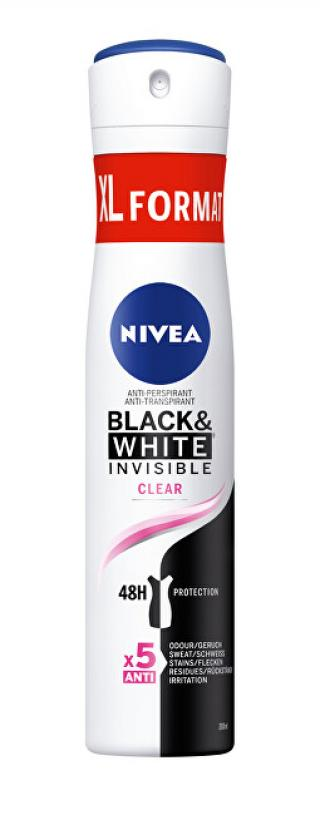 Nivea Antiperspirant ve spreji Black & White Clear 200 ml