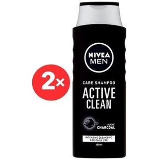 NIVEA Men Active Clean Care Shampoo 2× 400 ml
