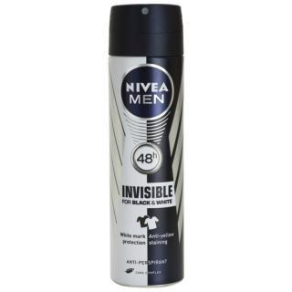 Nivea Men Invisible Black & White antiperspirant ve spreji pro muže 150 ml pánské 150 ml