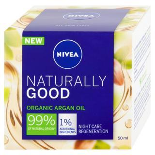 Nivea Regenerační noční krém Naturally Good  50 ml - SLEVA - poškozená krabička dámské