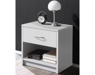 Noční stolek Pepe, bílý