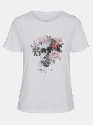 Noisy May bílé dámské tričko Nate s potiskem - L dámské bílá L