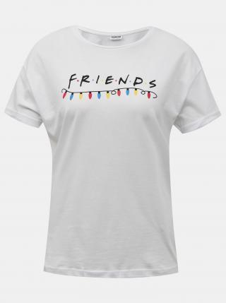 Noisy May bílé dámské tričko s potiskem - XS dámské bílá XS